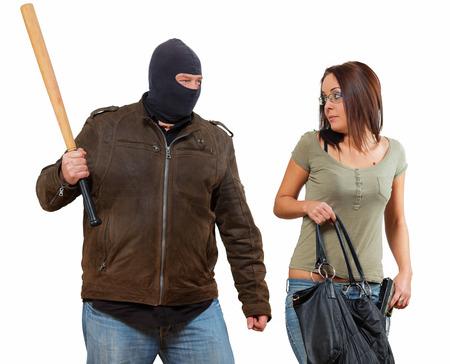 defensa personal: El robo, sino que la mujer tendrá una sorpresa Foto de archivo