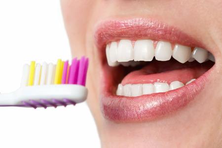 Denti sani con spazzolino Archivio Fotografico - 25987703