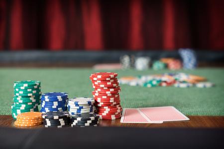 casino table: poker chips