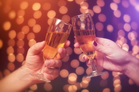 copa de vino: Feliz a?o nuevo Foto de archivo