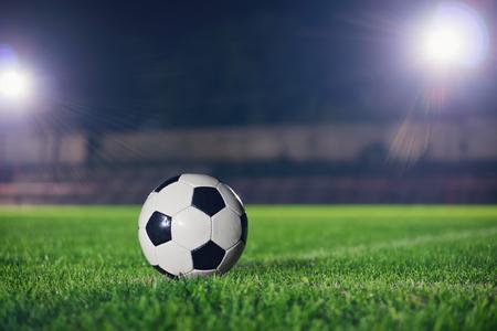 terrain de foot: Football nuit