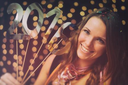 gente celebrando: Feliz a?o nuevo Foto de archivo