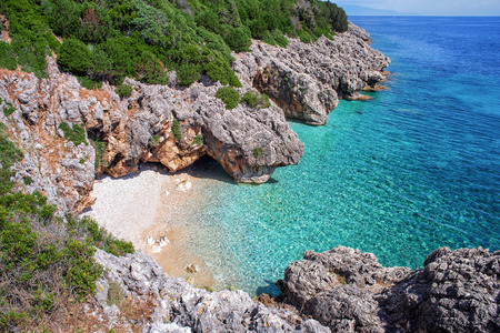 kefallonia: Beautiful sea bay called Kato Lagadi in Kefalonia, Ionian Islands