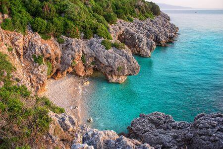 kefallonia: Beautiful sea bay called Kato Lagadi in Kefalonia, Ionian islands at dawn