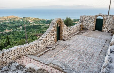 skala: Ruins of The Place Called Christian Church in Old Skala in Kefalonia, Ionian Islands, Greece