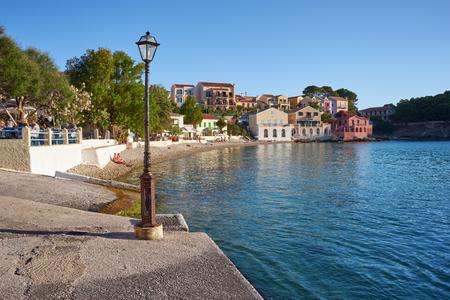 Kefalonia, 이오니아 제도, 그리스에있는 아 소스의 항구