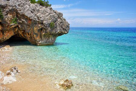 """아름 다운 바다 베이 Kefalonia, 이오니아 제도, 그리스에서에서 """"카토 Lagadi""""라는"""