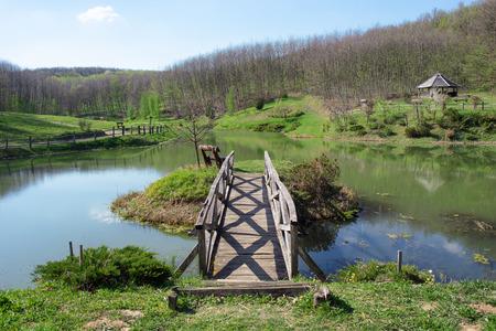 """장소의 호수와 공원은 플로리다, 헝가리에서 """"Anna bath""""로 알고 있습니다. 스톡 콘텐츠"""