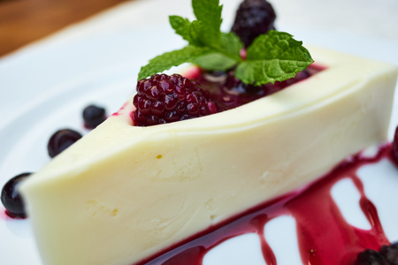 Sweet and delicious dessert, panna cotta 스톡 콘텐츠
