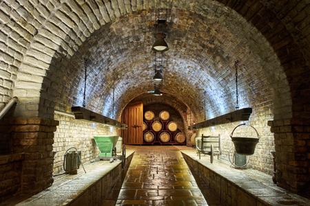 Old, big wine cellar Stock Photo