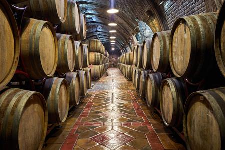 Old, big wine cellar Archivio Fotografico - 99349247