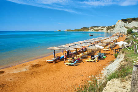 Xi Beach in Kefalonia, Ionian Islands, Greece Archivio Fotografico