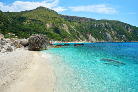 Petani beach in Kefalonia, Ionian Islands, Greece Archivio Fotografico