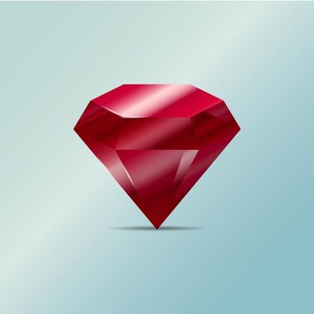 ruby: Vector illustration. Gem. Ruby