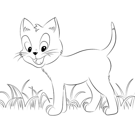 Niños Para Colorear Amigos Animales De Dibujos Animados En La ...