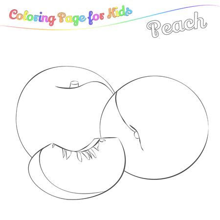 Yummy Passion Fruits Para Colorear. Estilo Simple De Dibujos ...