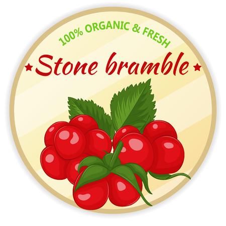 Étiquette vintage avec pierre.