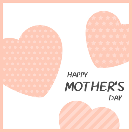 Bright greeting card in minimalist style for Mothers day. Modern badge or label with message Happy Mothers Day. Vector illustration.