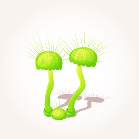 Beautiful fantasy mushroom. Magic unusual nature elements isolated on white background. Vector illustration. Mushrooms Collection. Ilustrace