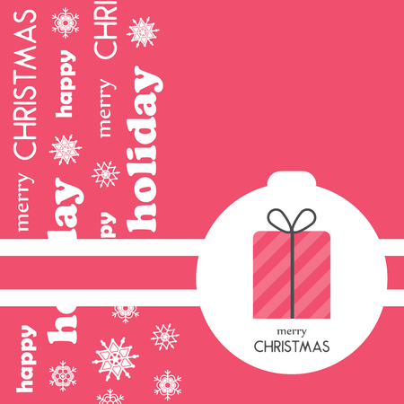 Bright Christmas greeting card, background, poster in minimalist style. Vector illustration. Holiday Collection.