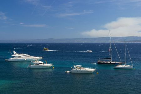 Boats on the adriatic sea