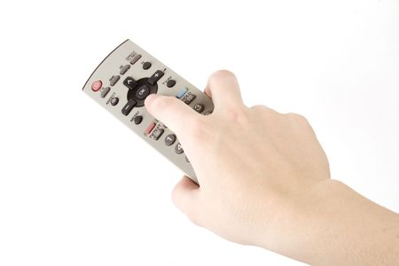 telly: Hand holding remote