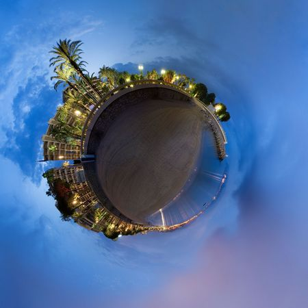 Spherical panorama of the beautiful Cannes in France Stock Photo