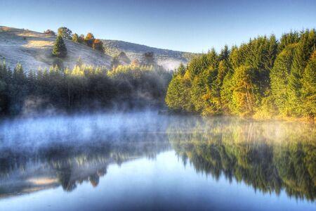 Photo of a beautiful romanian lake Stock Photo