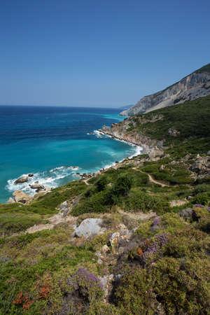 skiathos: Aegean sea, seen from the greek island of Skiathos Stock Photo