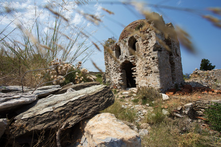 skiathos: Old mosque inside of the Kastro on the greek island of Skiathos Stock Photo