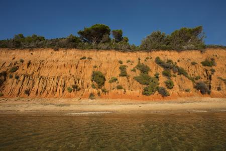 skiathos: Mandraki Beach on the island of Skiathos, Greece Stock Photo