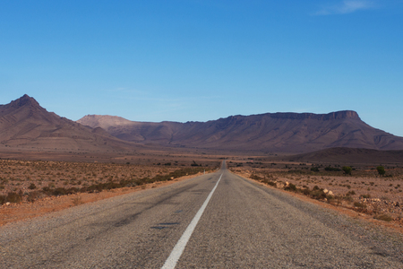 coutryside: Road in the coutryside of Morocco, Africa Stock Photo