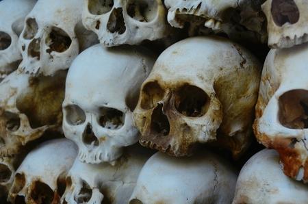 Killing Fields, Mass grave in Phnom Penh, Cambodia.