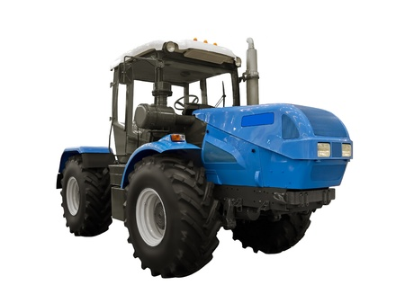 agronomics: Blue cross-country vehicle on a white background Stock Photo