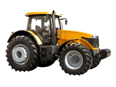 Farm  tractor on a white background photo