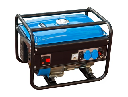 diesel generator: Portable generator on a white background