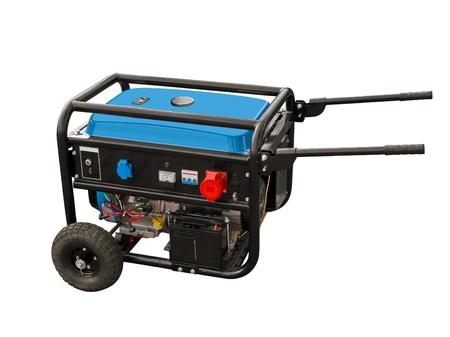 Portable generator op een witte achtergrond