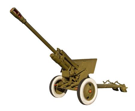 Anti-tank cannon Stock Photo