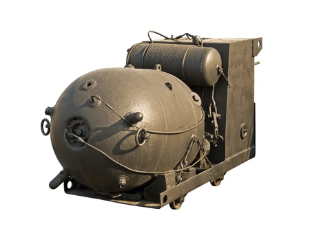munition: Large naval mine  from World War II