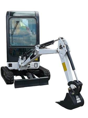 compact: Small excavator Stock Photo