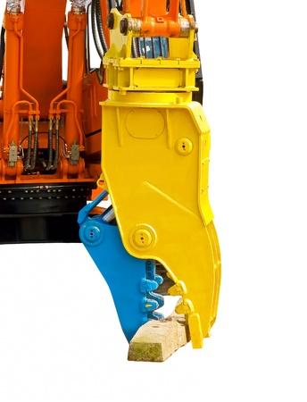 hydraulic hoses: Powerful hydraulic claw Stock Photo