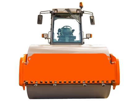 leveling: Road roller Stock Photo