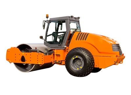 leveling: New road roller Stock Photo