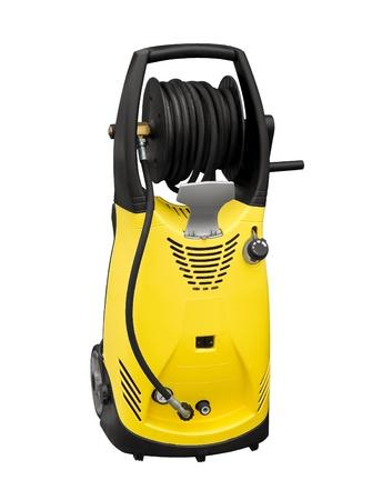 personal de limpieza: Lavadora de presi�n el�ctrica Foto de archivo