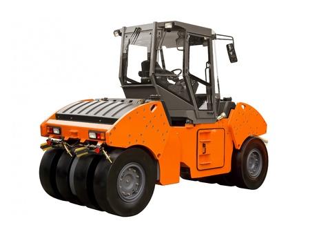 steamroller: Rubber-wheeled roller