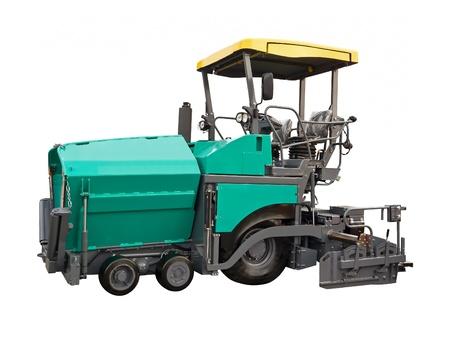 steamroller: Highly versatile paver Stock Photo