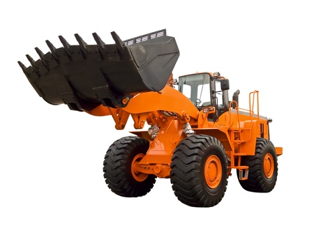 Orange buldozer photo