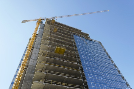 Construction of building photo