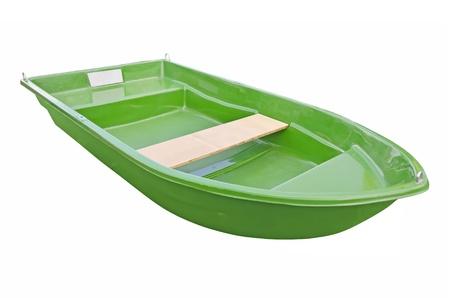 motor launch: Green boat