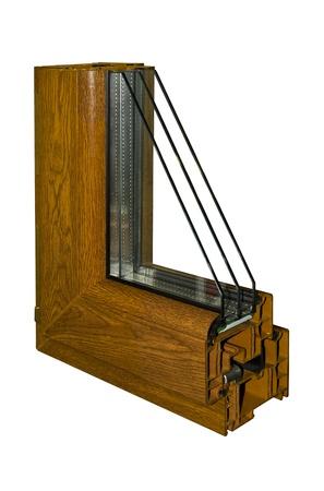 De steekproef van pvc van een venster